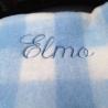 Manta cuadros azul personalizada