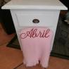 Manta lisa rosa personalizada
