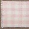 Manta cuadros rosa personalizable