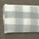 Manta cuadros gris personalizada