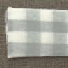Manta cuadros gris personalizable