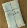 Manta Carmen Cuervo Azul Personalizada, 100% lana